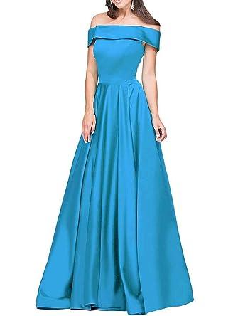 A Line Prom Dresses 2018 Aqua