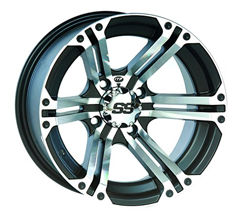 ITP SS ALLOY SS212 Black Wheel with Machined Finish (12x7''/4x137mm) by ITP