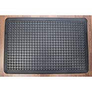 "Doortex Ergonomic Rubber Anti-Fatigue Mat, Open Top, 24""x36"", Black (FR46090FHA)"