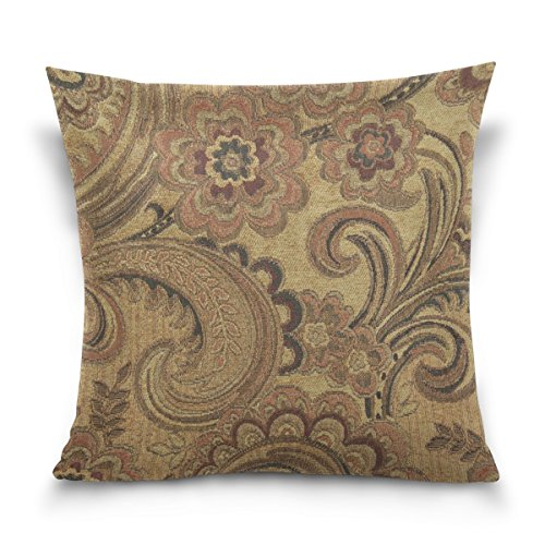 BAISHUISHOP Decorative Cushion Paisley Pattern