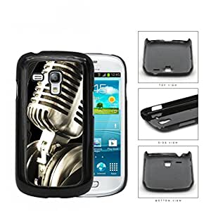 Classic Vintage Microphone And Headphones Hard Plastic Snap On Cell Phone Case Samsung Galaxy S3 SIII Mini I8200