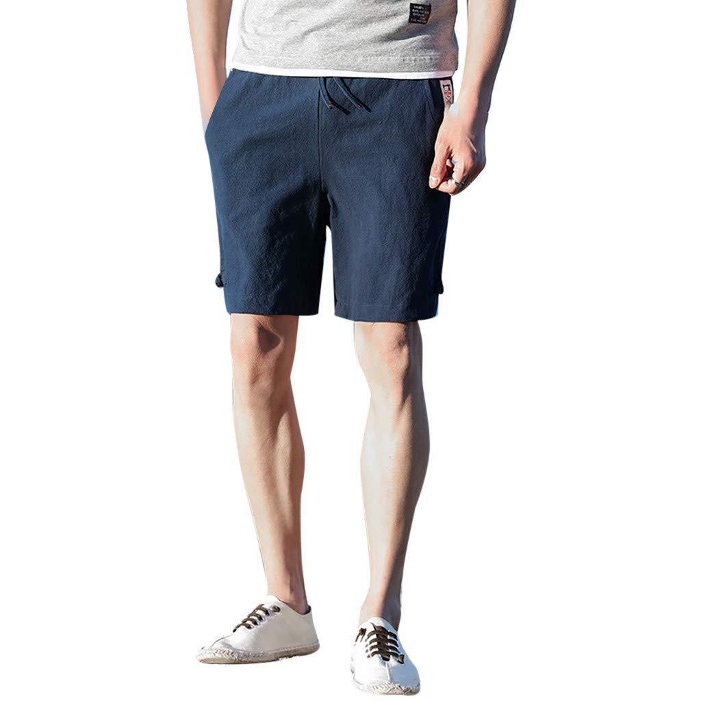 Casual Mens Swim Trunks Quick Dry Printed Beach Shorts Summer Boardshorts