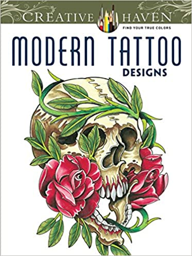 Free Download Creative Haven Modern Tattoo Designs Coloring Book ...