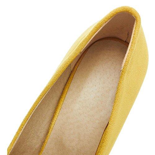 H HQuattro stagioni femmina giallo impiombatura abrasivo scarpe tacco tagliente gomma indossare-resistere non-slip , 40