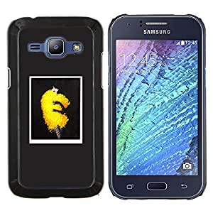 "Be-Star Único Patrón Plástico Duro Fundas Cover Cubre Hard Case Cover Para Samsung Galaxy J1 / J100 ( Fashion Art Puffy Amarillo Fluffy Tendencia vestido"" )"