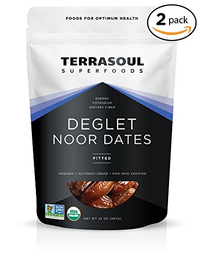 Terrasoul Superfoods Organic Deglet Noor Dates (Pitted), 4 Pounds