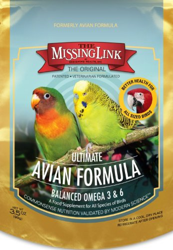 Missing Link 3-1/2-Ounce Ultimate Avian Formula for All Species of Birds, My Pet Supplies