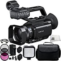 Sony PXW-X70 Professional XDCAM Compact Camcorder + 3PC Multi-Coated Filter Kit (UV+CPL+FLD) + 2 Replacement NP-FV100 Battery + Rapid Travel Charger with E.U Adapter & Car Adapter + 6 FT HDMI Cable + 36 PIN LED Video Light + Carrying Case & Microfiber Cleaning Cloth