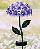 The Lakeside Collection 26-Light Solar Flower Stakes- Purple