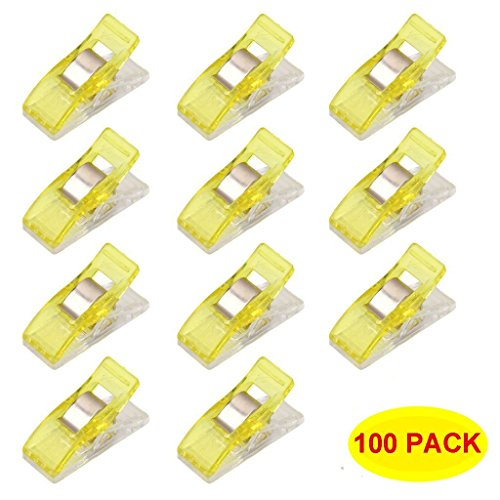 Hem Clips Set (Swity Home 100 Pcs Mini Wonder Multi-purpose Clips Use as Sewing Clips Binding Clips for Quilting, Crocheting, Knitting and General Purpose)