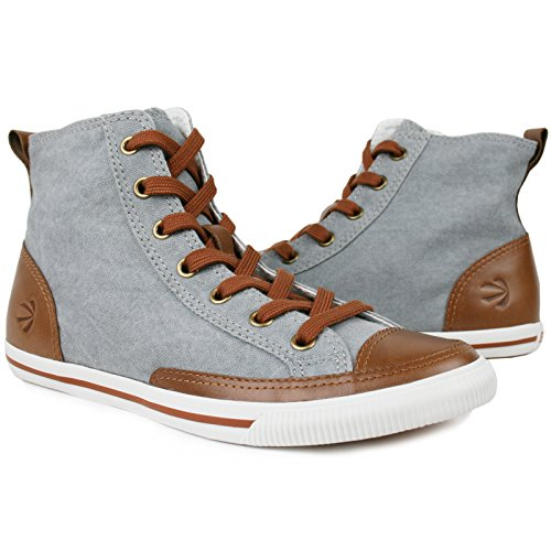 Burnetie Women's High Top Vintage Cotton Sneaker 7 M US (Sneakers Vintage Shoes)