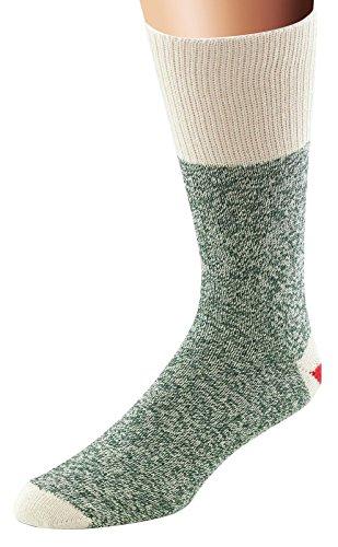 Fox River Original Rockford Red Heel Lightweight Monkey Socks (2 Pack), GREEN, Large