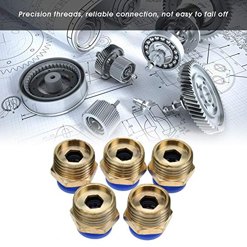 Pneumatic Air Pipe Quick Connectors Thread Straight Push in Fittings Set for Clean Compressed Air(PC10-4 5pcs)