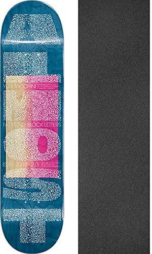 タイピストペーストピューAlmost Skateboards Yuri Facchini Fat Font スケートボードデッキ 樹脂 7-8.37インチ x 31.8インチ ブラックマジックグリップテープ付き - 2個セット