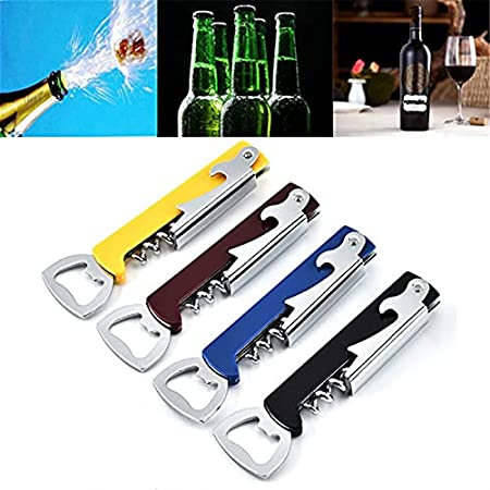 KGDC Sacacorchos de Camareros 1 unids Vino Vino sacacorchos de Acero Inoxidable sacacorchos de sacacorchos de Corcho Multifuncional abrelatas de Cerveza de Alerta de Vino Abridor de Botellas