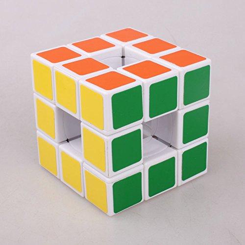 QTMY Plastic Irregular Hollow Speed Magic Cube Puzzle