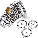 Male Chastity Device Cage Urethral Catheter Stainless Steel Chastity Belt Cock Cage Sex Toys All 3 Rings