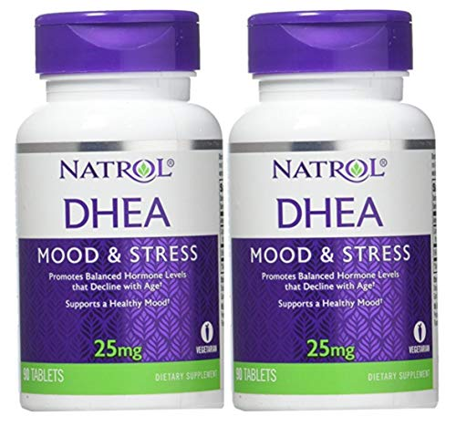 Natrol DHEA 25mg, 90 Tablets (Pack of 2)