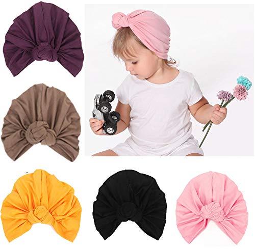 CaJaCa Newborn Baby Toddler Cotton Hat Babys Turban Kids Knotted Hat Cap Set (X16) ()