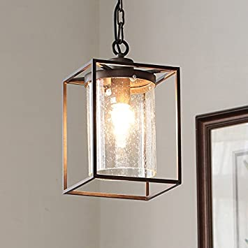 seeded glass lighting fixtures. lovedima new american country chain hanging chic pendant light with seeded glass shade and bronze metal lighting fixtures