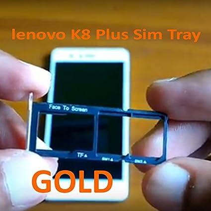 anonymous Sim Tray for Lenovo K8 Plus (Gold)