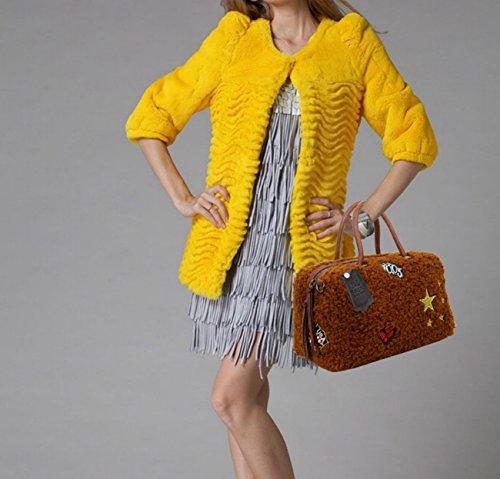 Designer Women Tote Faux School For LeahWard Bags Bag Holiday For Tote 0430 Fur Grey Bag Women's Shoulder Handbags CY4q8qwx