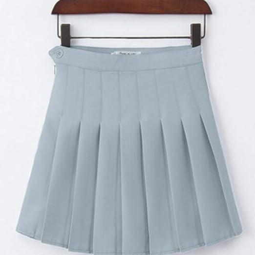QZBTU Faldas Mujer Falda Plisada De Cintura Alta Falda ...