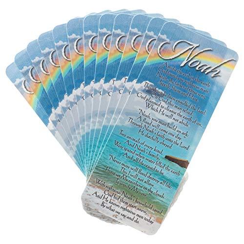- Biblical Details of Noah's Ark & Rainbow Cardstock Bookmark Pack of 12