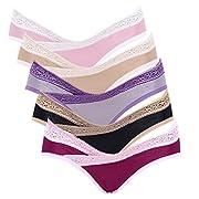 Intimate Portal Women Under The Bump Maternity Panties Pregnancy Underwear 5-pk Lace Multicolor Large