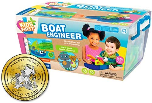 Thames & Kosmos Kids First Boat Engineer | STEM | 32 Page Full-Color Illustrated Storybook | Ages 3+ | Preschoolers and kindergartners | Develop Fine Motor Skills | Parents Choice Gold Award