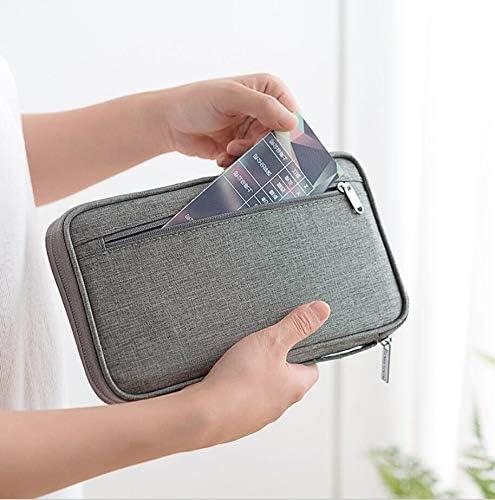 Black Travel Passport Wallet,Family Passport Holder RFID Blocking Passport Wallet Ticket and Cash Holder Document Organizer Waterproof,Passport Pouch for Men /& Women