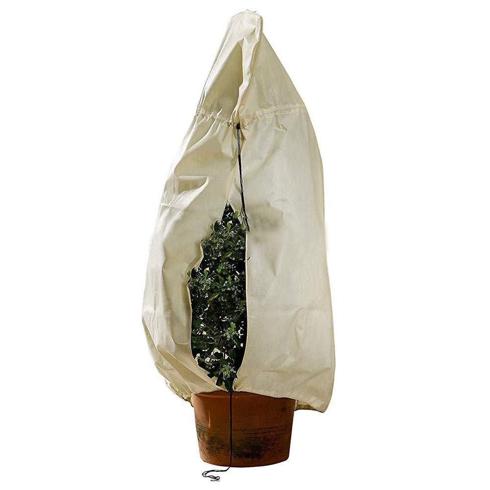 yanyaoo Protection des Plantes de Jardin en Plein air Protecteur des Plantes d'Hiver Sac résistant au Gel Couverture végétale en Non-tissé Couverture d'Arbre Couverture résistant au Gel