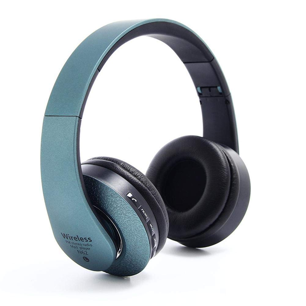 miniflower Bluetooth Headphones Over Ear Hi-Fi Stereo Wireless Headset, Built-in Microphone with Active Noise Cancelling Subwoofer Foldable, Soft Memory-Protein Earmuffs HD Sound Earphones