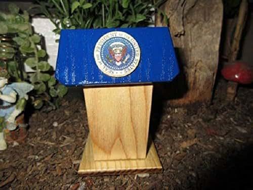 Gnome Garden: Amazon.com: Miniature Podium With Presidential Seal Fairy