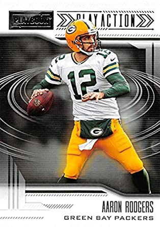 2018 Panini Playbook Play Action  8 Aaron Rodgers Green Bay Packers NFL  Football Trading Card 9050c95b1