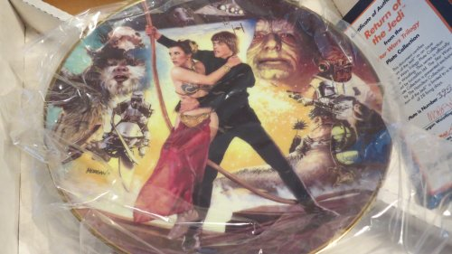 (The Hamilton Collection Star Wars Trilogy Return of the Jedi Collector Plate)