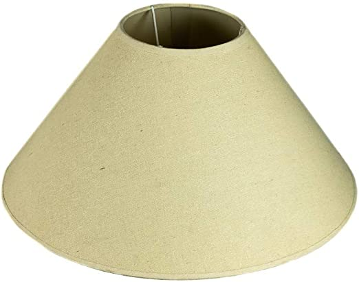 tapidecor Pantalla para LAMPARA DE Mesa CONICA 35X18 Lino Beige: Amazon.es: Hogar