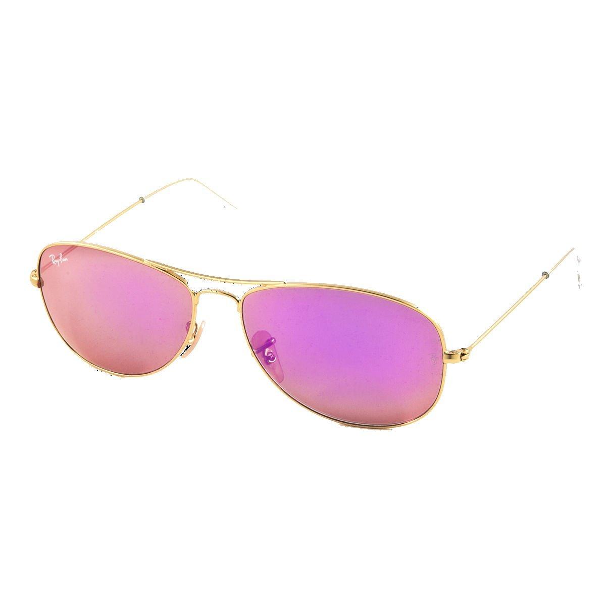 5a6290ded1 Amazon.com  Ray Ban RB3362 112 4T 56 Gold Cyclamen Mirror Cockpit  Sunglasses Bundle-2 Items  Shoes