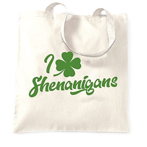 Leaf Patricks Irish St St Shenanigans Green Patricks I White Tote Gift Present Lucky March Bag Funny Shamrock Day Love Shopping Carrier Legend Four Cool Day adrdx7