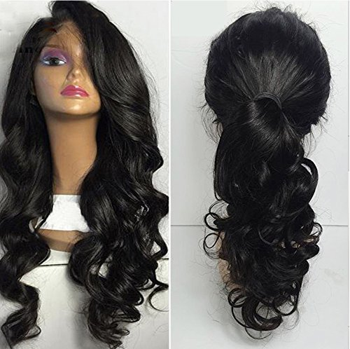 Amazon.com : Helene Hair Sexy Loose Deep Wave Wig Brazilian Virgin Hair Human Hair Lace Front Wigs With Baby Hair 130% Density (22