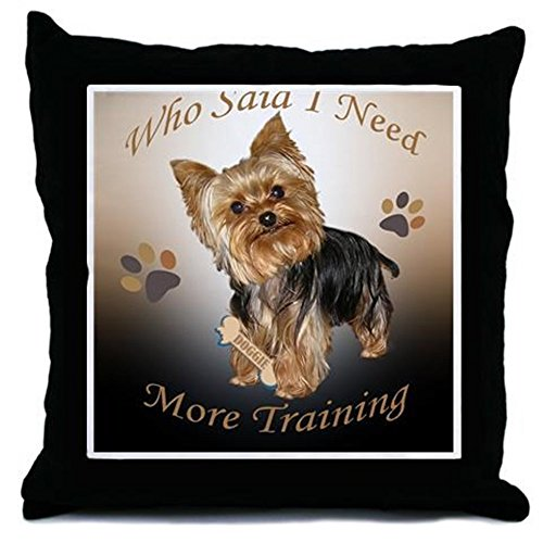 CafePress - Yorkie Needs Training Mousepad - Decor Throw Pillow ()