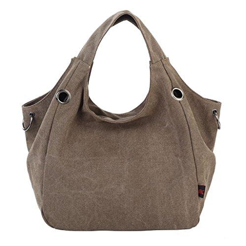 Handbag ZiiPoR Coffee Totes Shoulder Hobo Canvas Casual Canvas Vintage Bag 4xrxSw