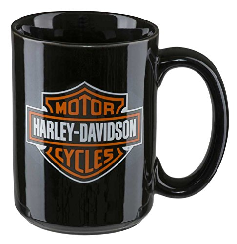 Harley-Davidson Core Bar & Shield Logo Coffee Mug, 15 oz. - Black HDX-98605