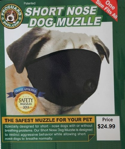 Mesh Dog Muzzle for Short Nose - Flat Faced Dogs, (pug muzzle) one size Fits All