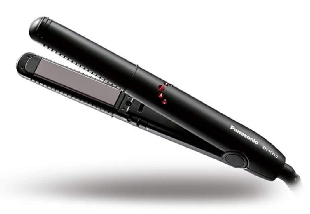 Panasonic EH-HV10-K62B Portable Hair Straightener and Curler (Black)