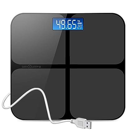 WWeiweian balanzas electrónicas caseras balanzas humanas precisas para Adultos pérdida de Peso Que pesan balanzas electrónicas
