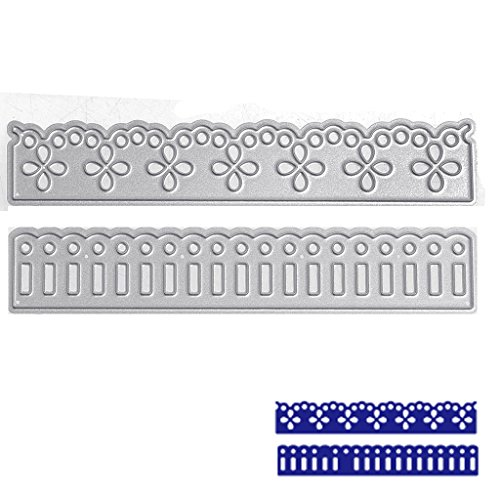 SCASTOE 2pc Lace Cutting Dies Stencil DIY Paper Craft Card Making Scrapbooking Album