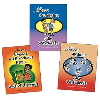 Nasco tb23780t Algebra Witz arbeitsblättern, drei Bücher, Stufen 6 + ...