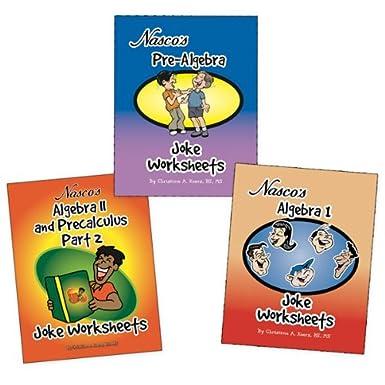 Amazon.com: Nasco TB23780T Algebra Joke Worksheets, Three Books ...