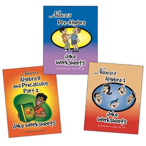 (Nasco TB23780T Algebra Joke Worksheets, Three Books, Grades 6+)